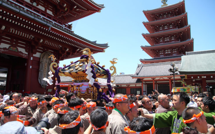 Sanja Matsuri Festival in the Asakusa district of Tokyo, JAPAN.