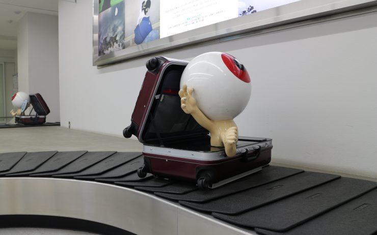 Eyeball on luggage