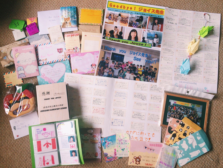 Leaving gifts for an ALT leaving Japan.