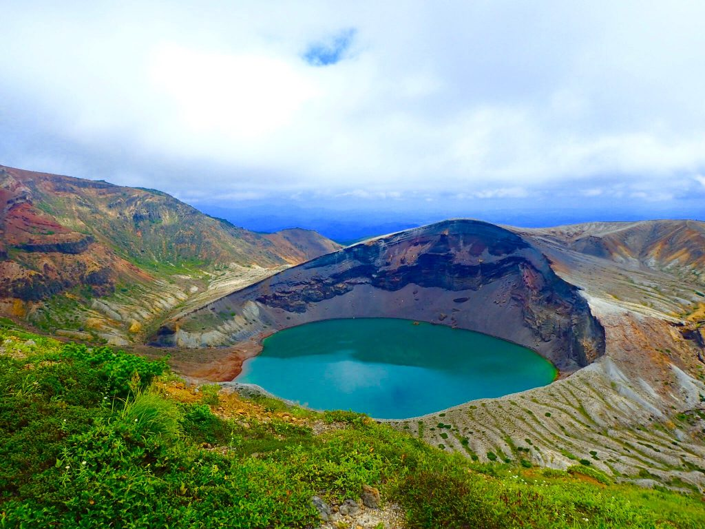 the Okama Crater lake at Mount Zao