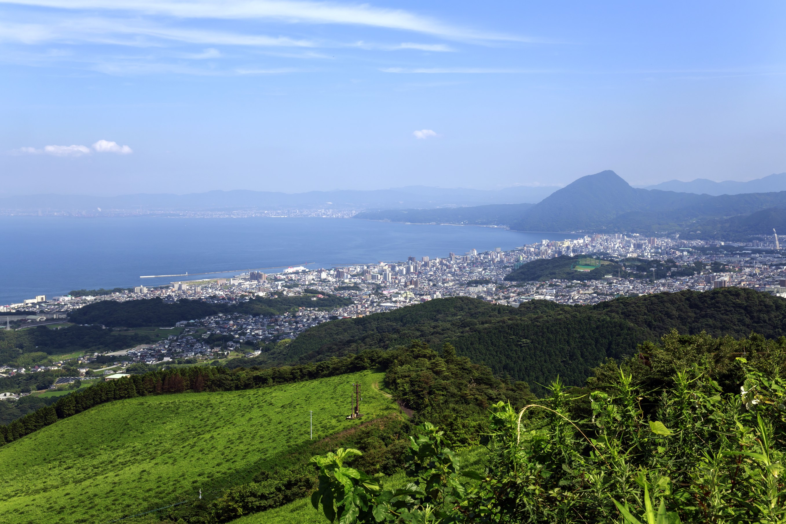 Beppu city in Oita, Japan