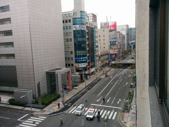 The November sinkhole, about 100 meters from JR Hakata Station, caused blackouts and traffic delays.
