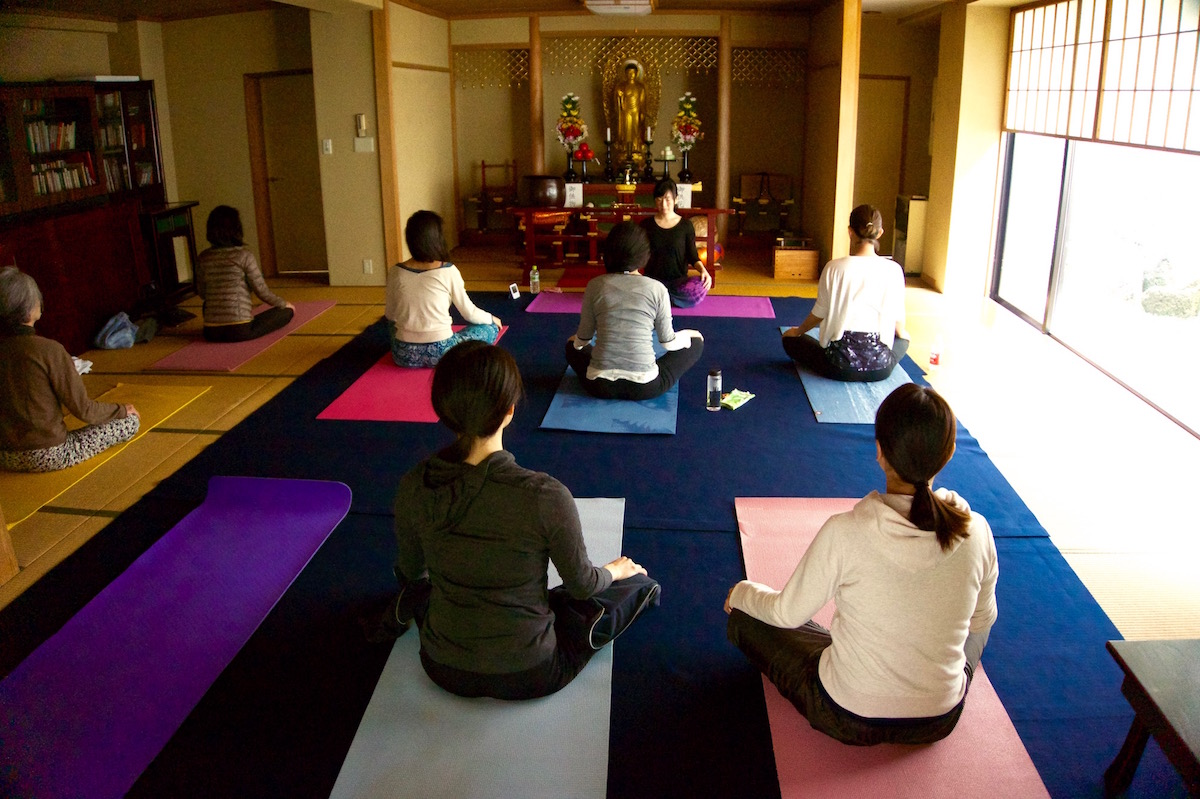 Did you know you can do yoga in a temple in Japan?