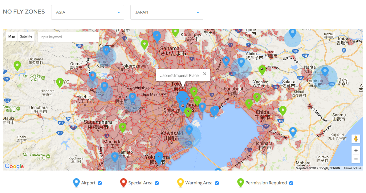 Things You Should Know About Drones In Japan GaijinPot - Us no fly zones map