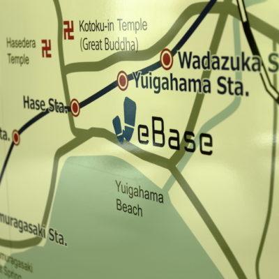 WeBase Hostel Kamakura Lounge Map