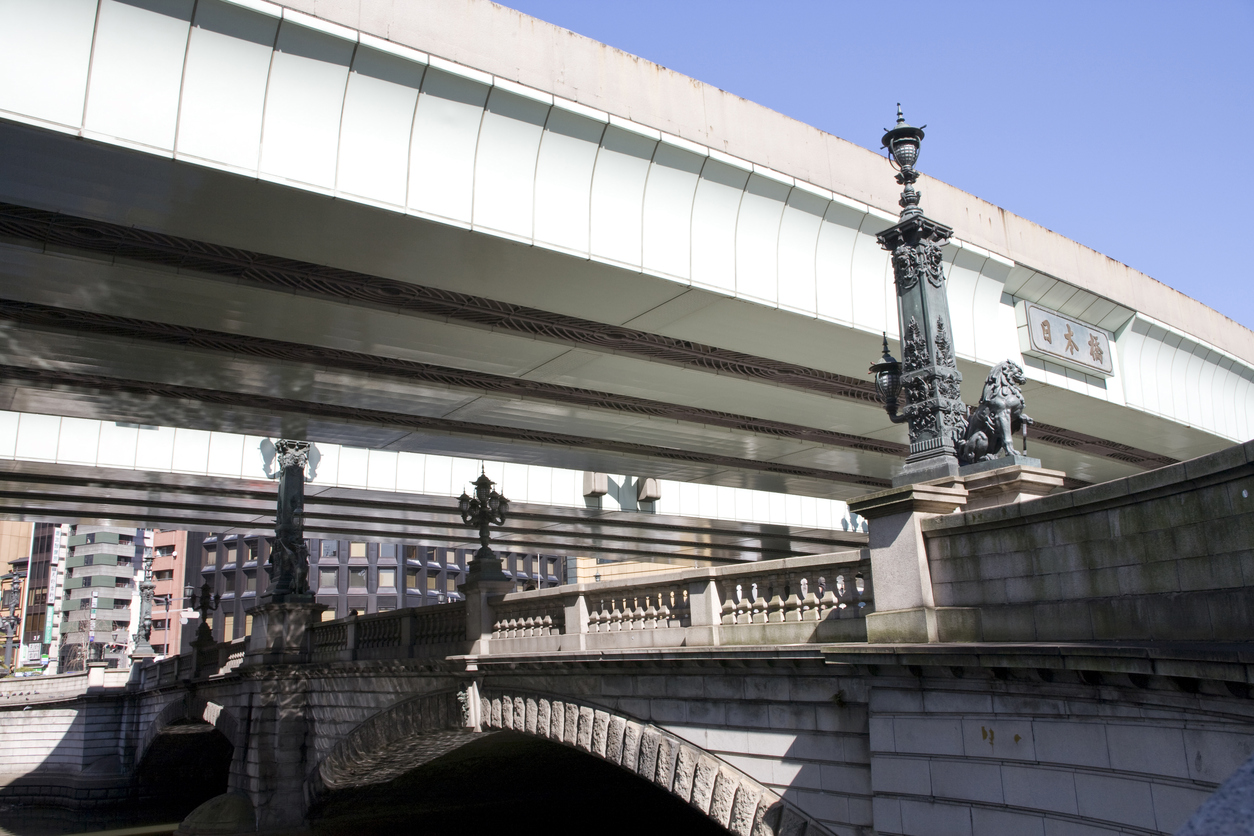 Nihonbashi bridge - the center of Tokyo