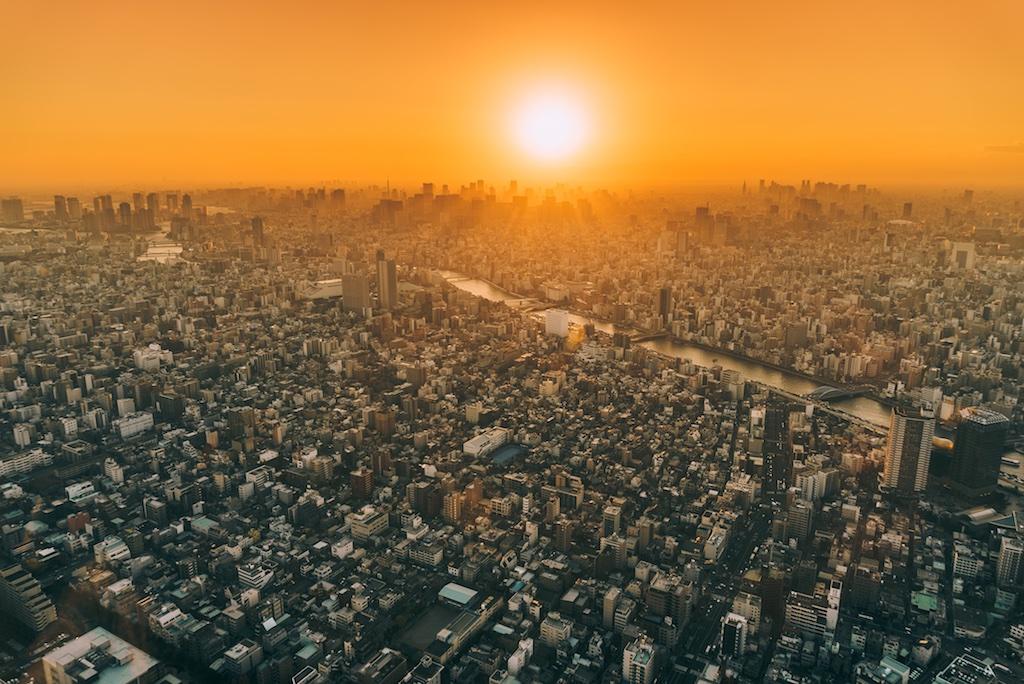Nihonbashi marks the exact center of Tokyo