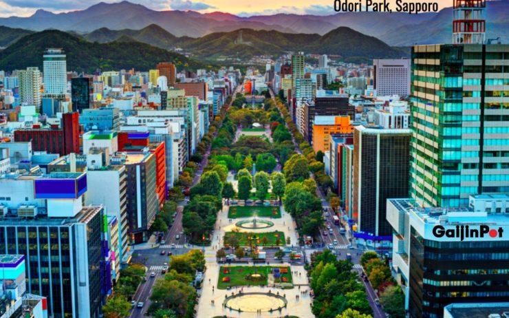 Odori Park in Sapporo.