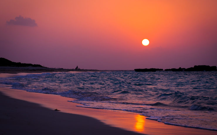 Sunset in Naha Okinawa Estinate Hotel
