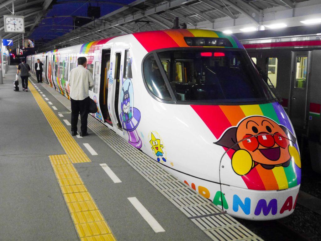 Shikoku Anpan Man train interior