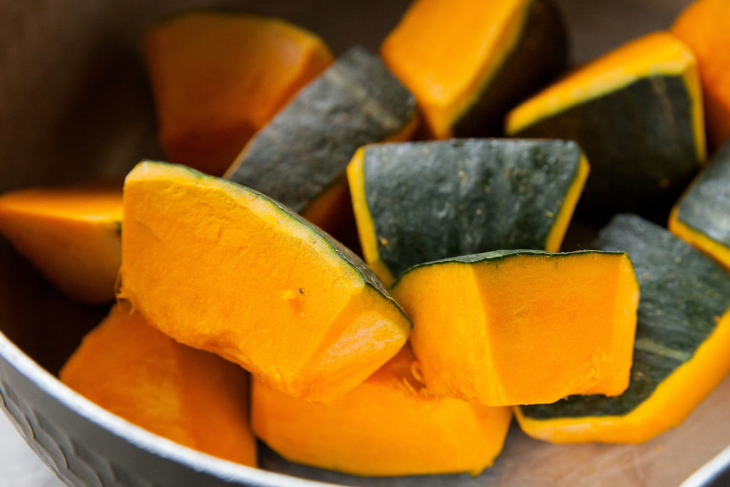 Kabocha, or pumpkin.