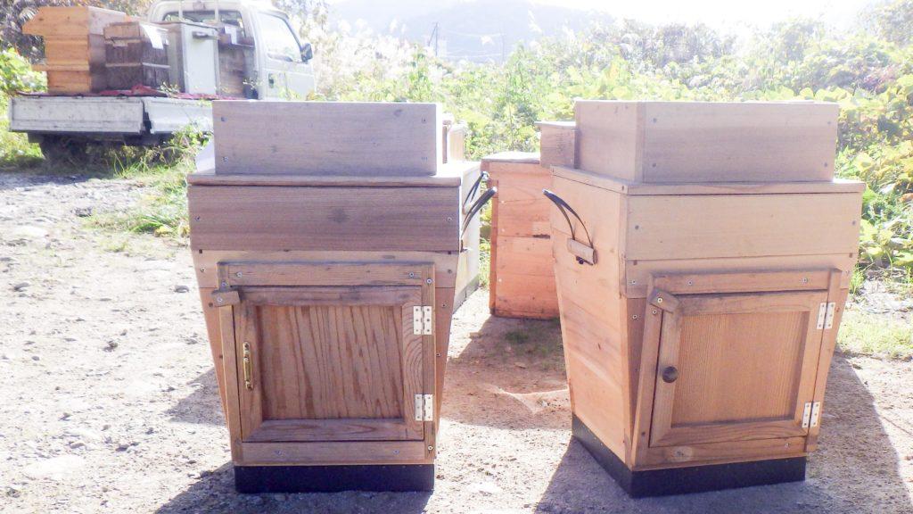 Modern nest boxes.