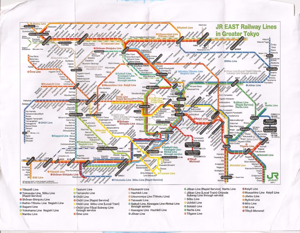 Japan Wanderlust You Will Get Lost Gaijinpot Train Schematics By Now Youve Probably Seen The Intimidating Of Intersecting Colorful Lines That Is Tokyo Map But Getting One Best