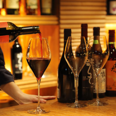 Bar Ignis serves free wine everyday from 5 - 7 pm