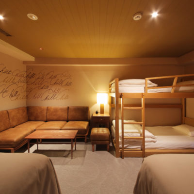 Families or groups of friends can stay at Unwind Hotel & Bar