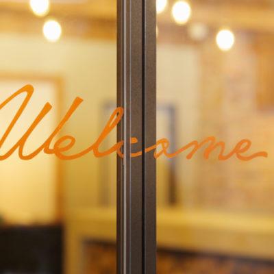 Unwind Hotel & Bar welcome sign