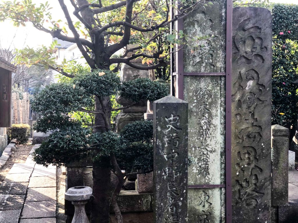 The exact spot at Joganji Temple where Scarlett Johansson came walking out of the cemetery in the rain in Lost in Translation.