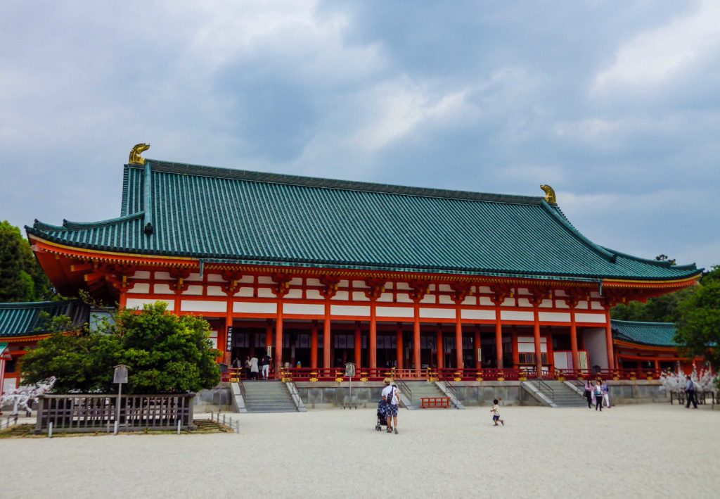 The main hall of Heian Jingu in Kyoto.