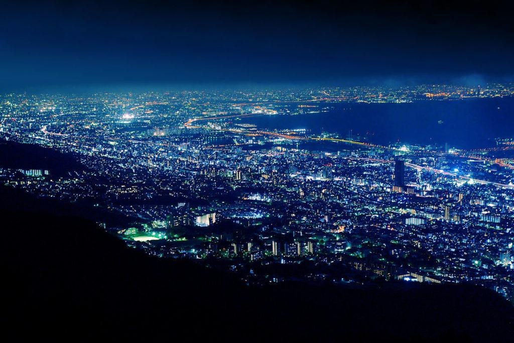 View of Kikuseidai from Mt. Maya, Kobe