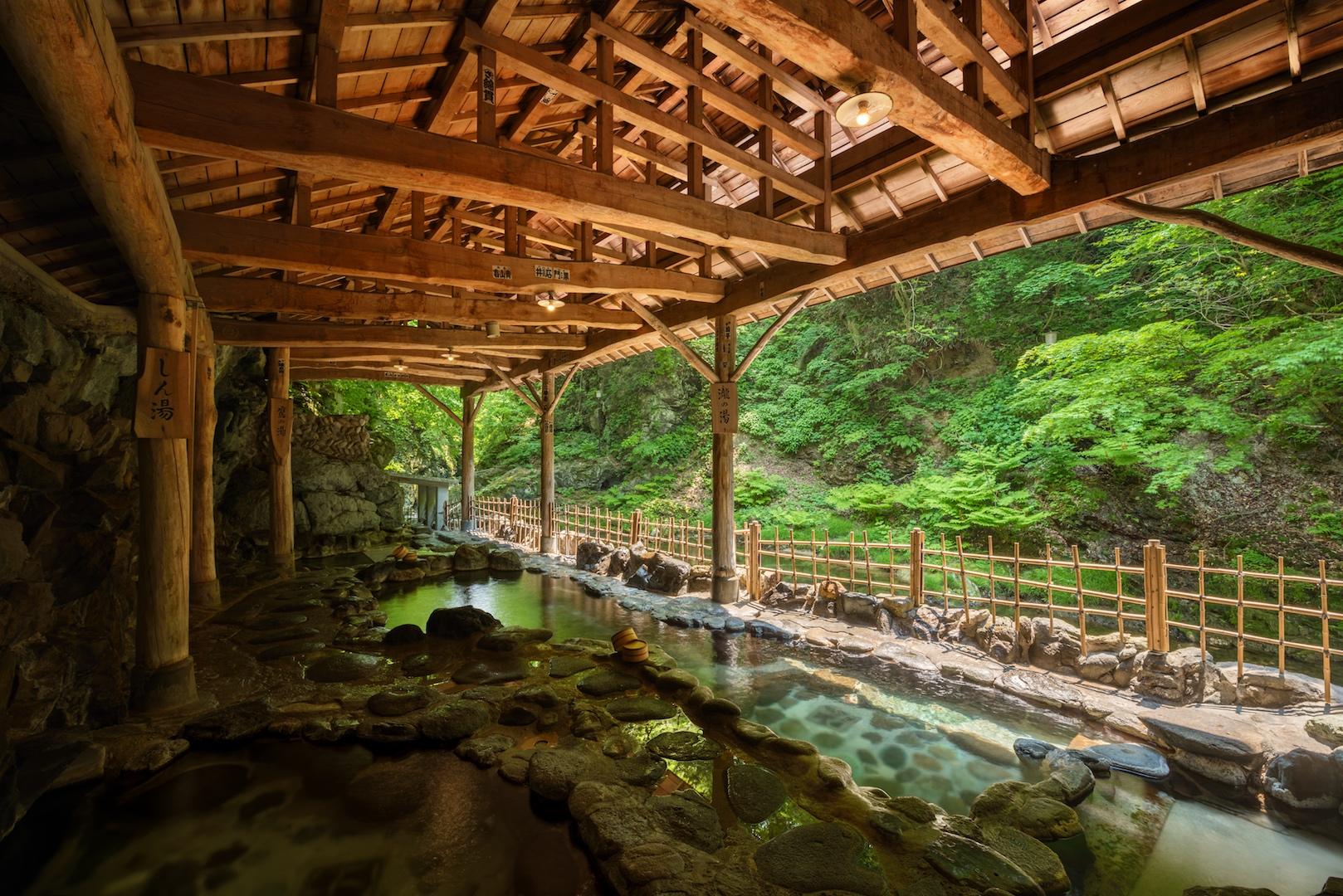 Sakunami Onsen outdoor bath