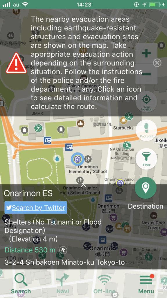 Pocket Shelter evacuation spots