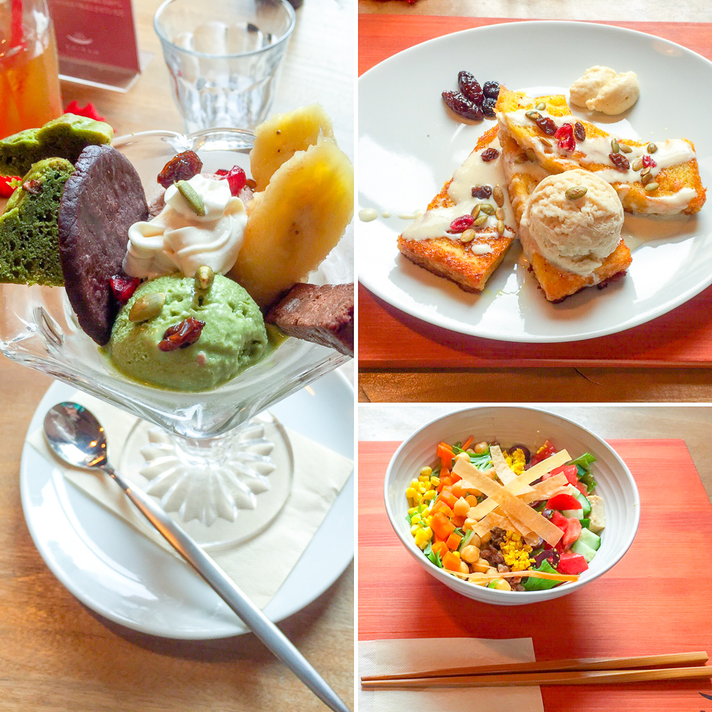 Sairam offers a great range of colorful and healthy dishes, as well as indulgent desserts.