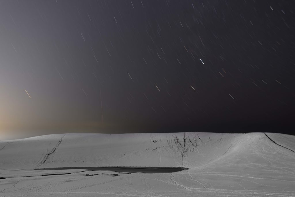 Tottori sand dunes in the snow