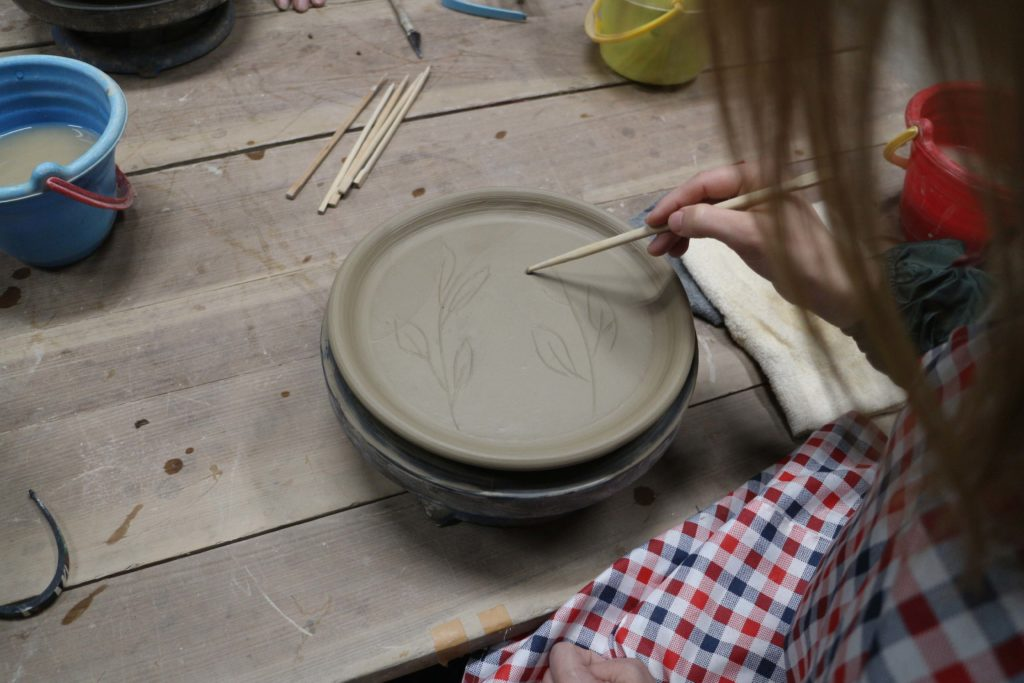 Pottery making in Tottori