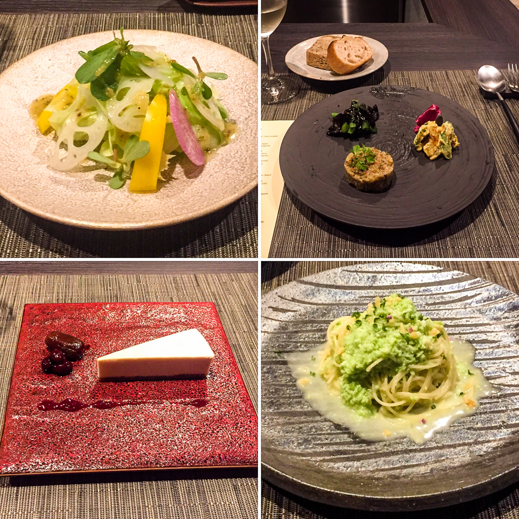 Each course at Vegetus is elegantly presented and tastes as good as it looks.