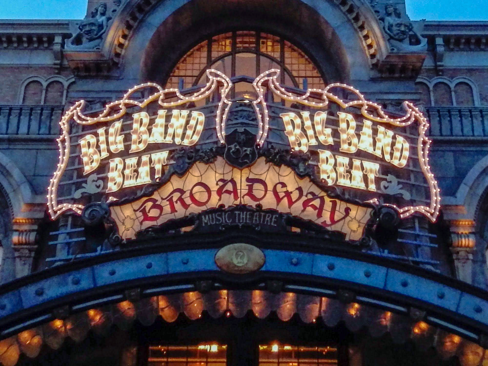 The marquee for Big Band Beat.