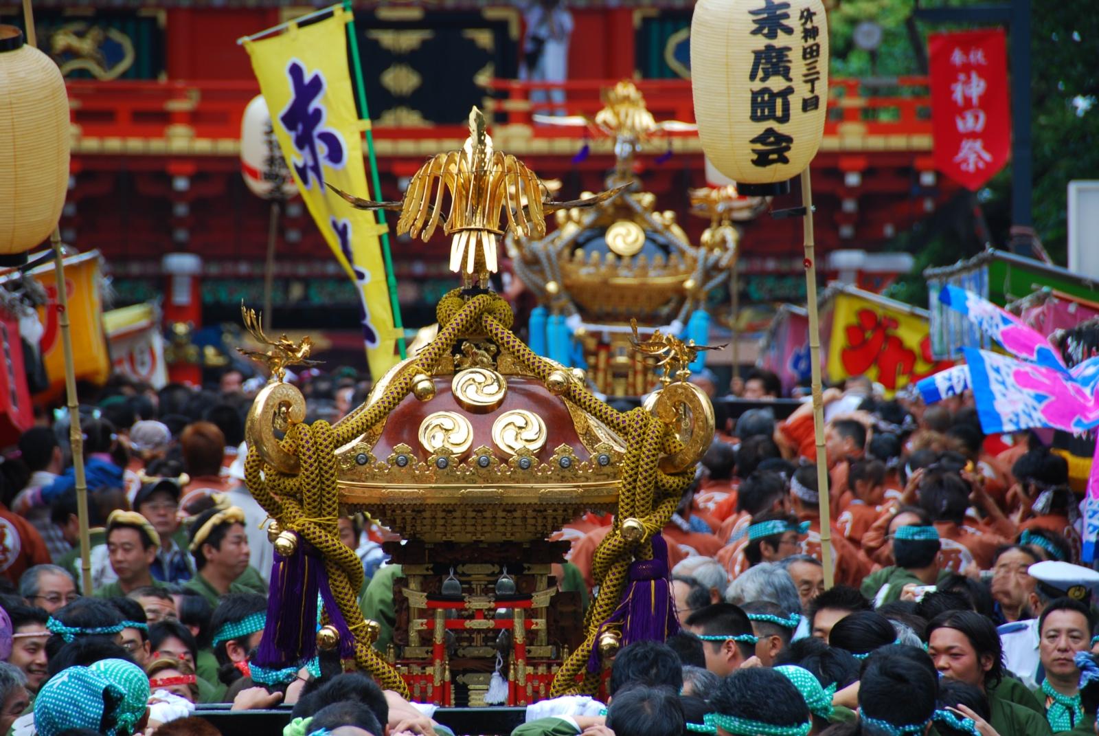 The Kanda matsuri, one of Tokyo's three biggest festivals.