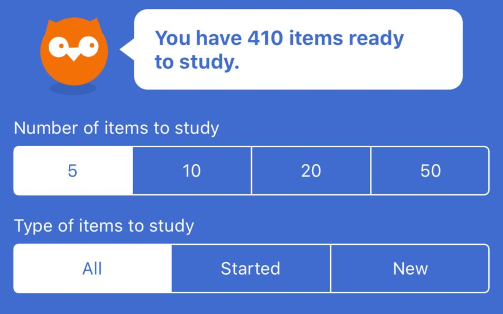Study to-dos in iKnow.