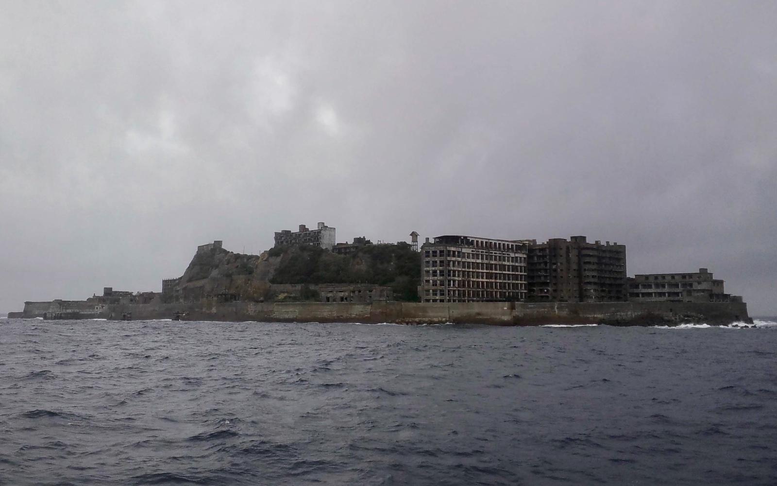 Hashima, otherwise known as Gunkanjima, or Battleship Island.
