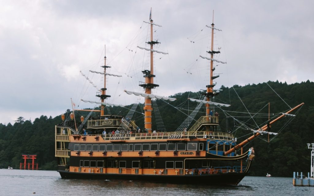 Get a discount on a first-class cabin aboard the Lake Ashi pirate ship.