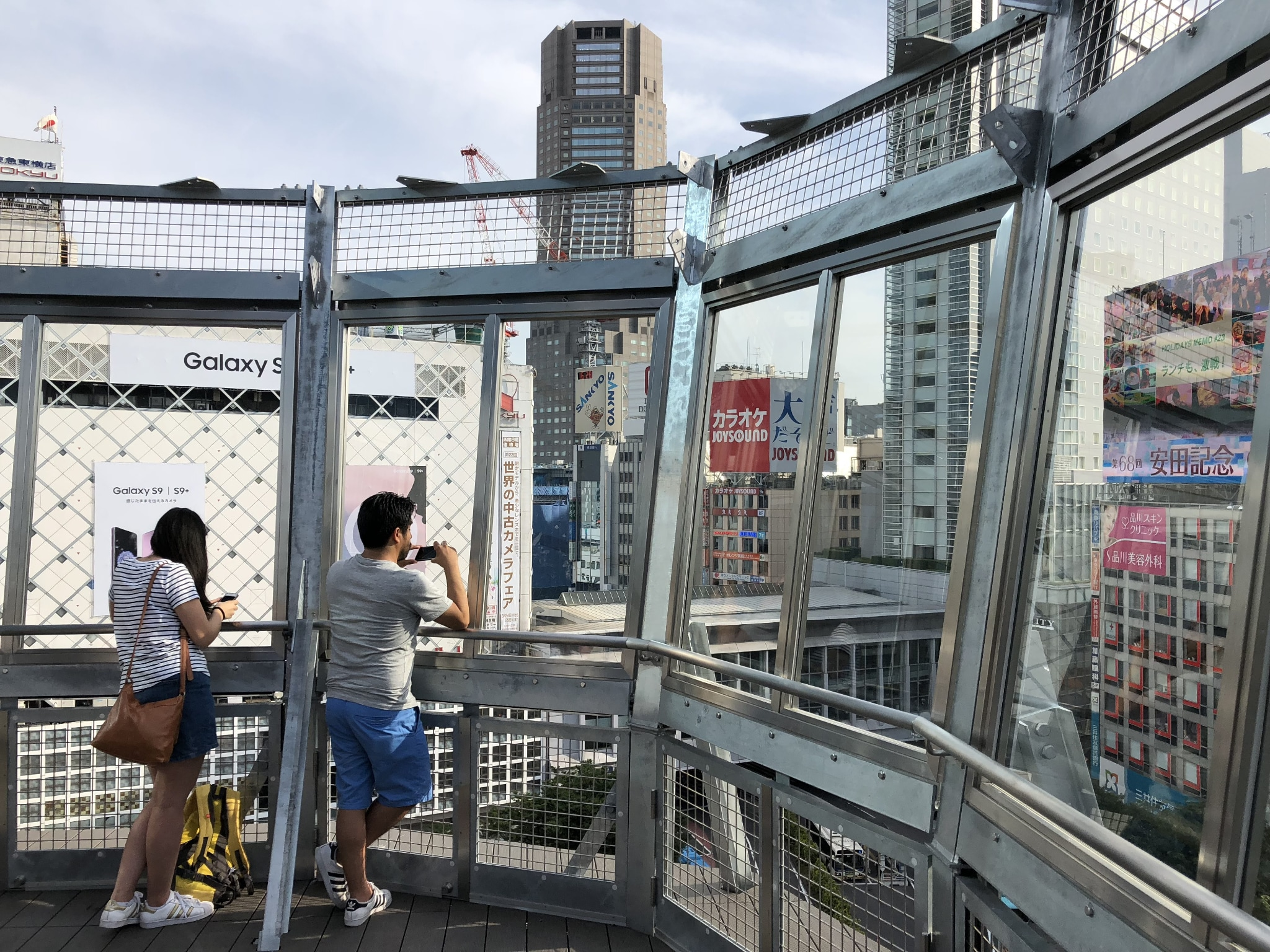 Crossing View, the new open-air observation deck overlooking the Shibuya Scramble.