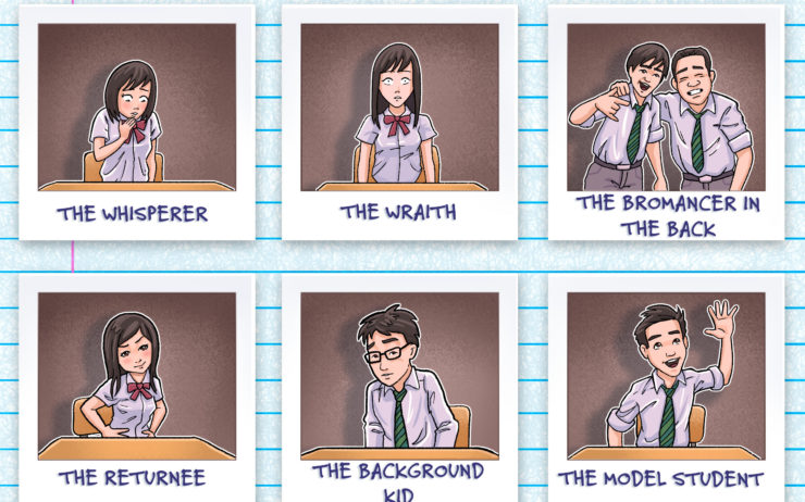 Six types of students you'll find in a Japanese high school English class.