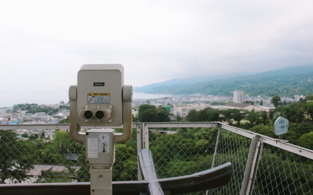 The view from Odawara Castle is breathtaking.