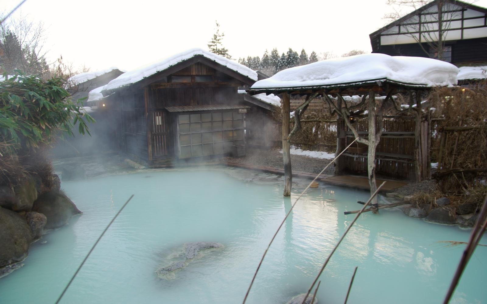 Tsurunoyu Onsen in Semboku, Akita, Japan.