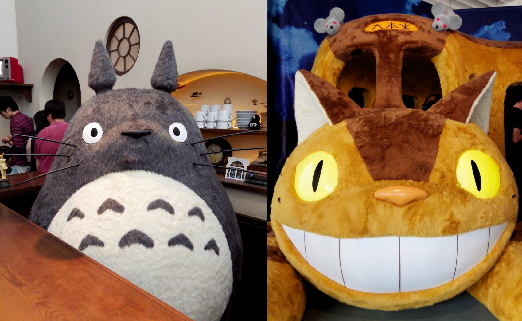 Totoro and Catbus displays at the Ghibli exhibition in Roppongi Hills, Tokyo, 2016.