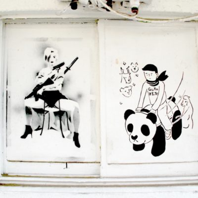 Stenciled wall Design Festa Gallery