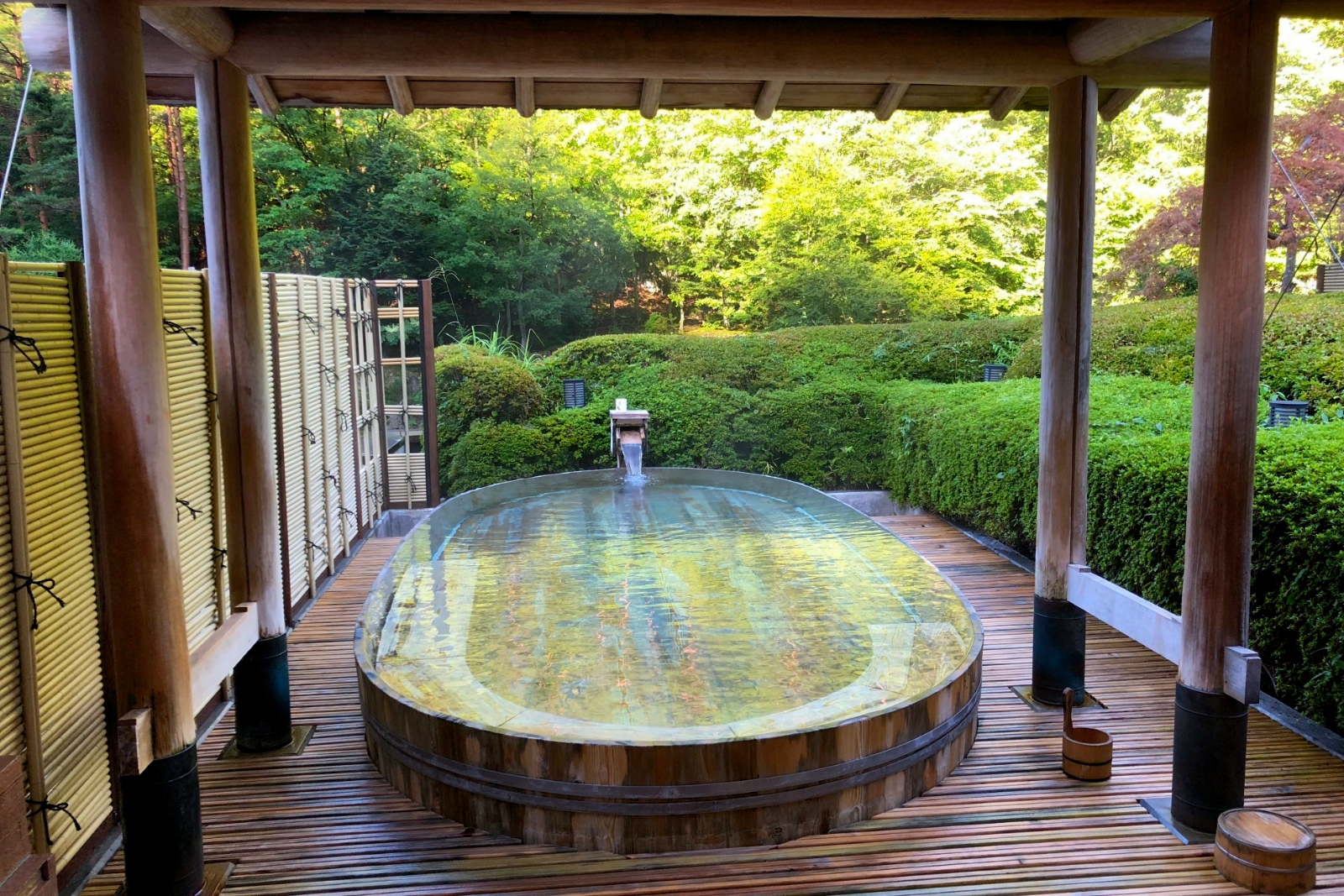 Boukei Springs, the hotel's observatory outdoor bath.