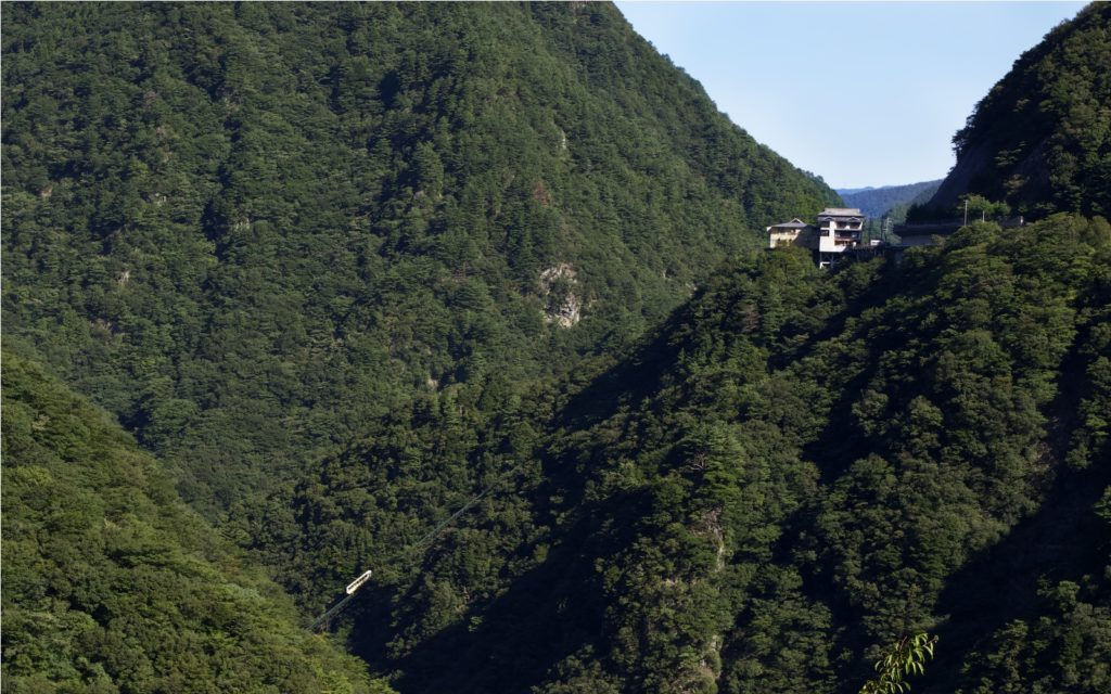 View of Hotel Iya Onsen from a distance