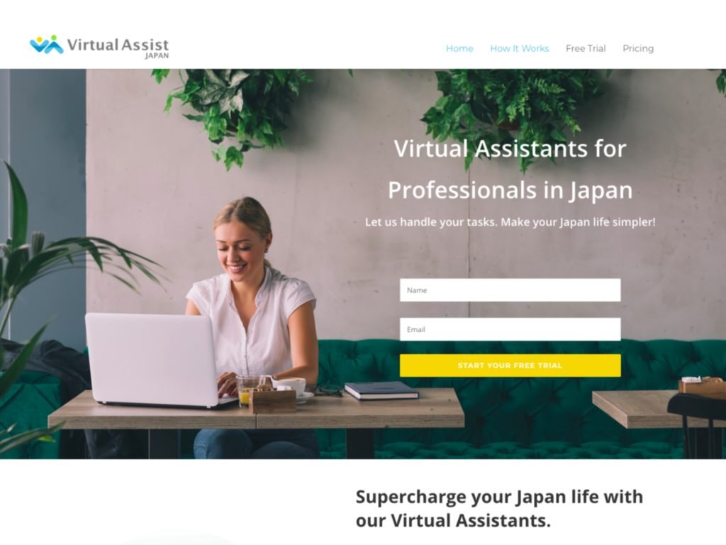 Virtual Assist Website Screencap
