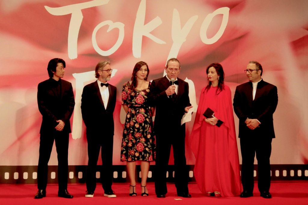 Tommy Lee Jones and members of the Competition Jury at the 2017 festival.