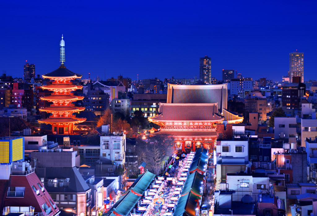 View from the Sky Grill buffet in the Asakusa View Hotel