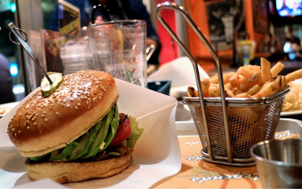 The burgers are good at Legends Bar Roppongi