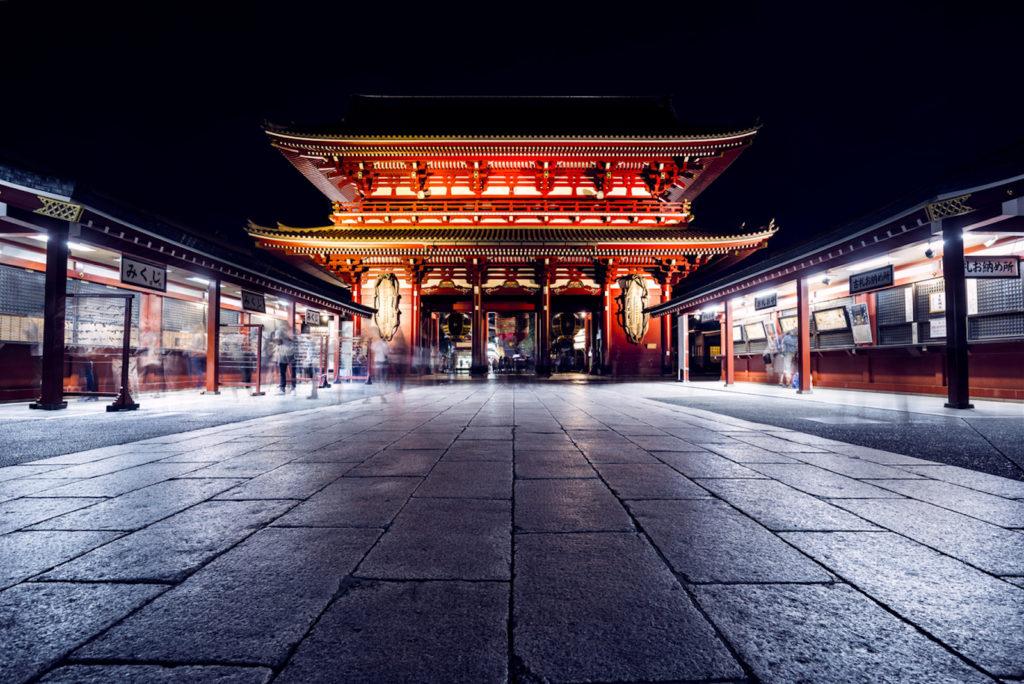 Sensoji Temple in Asakusa at night