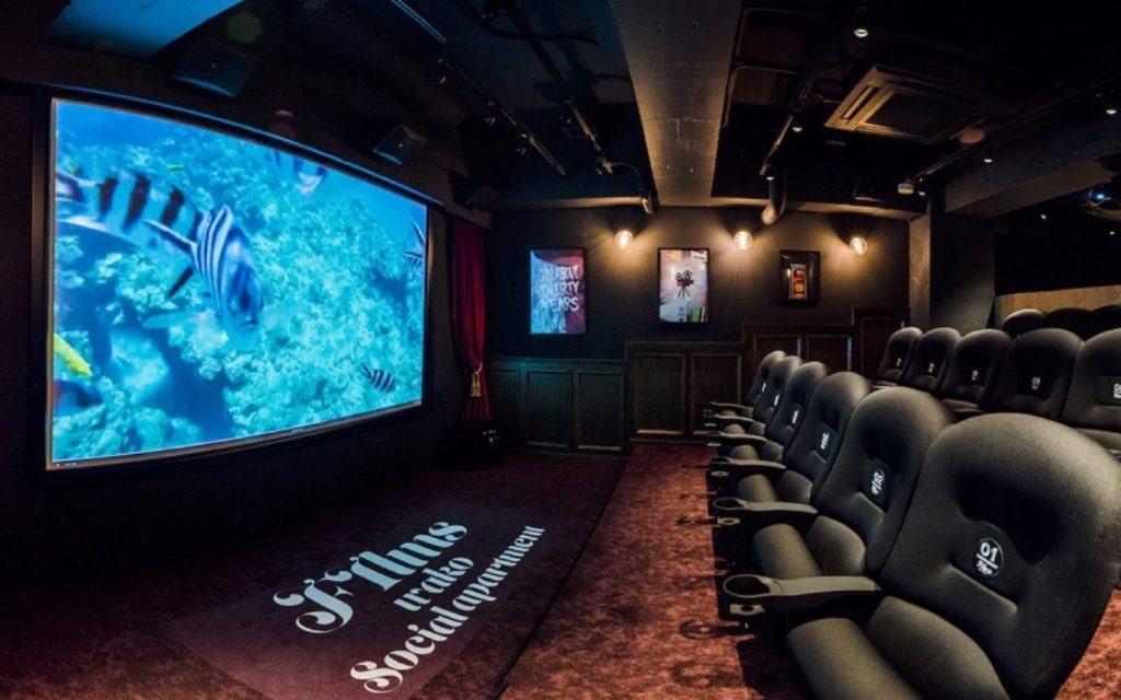 Theater interior at Films Wako by Social Apartment
