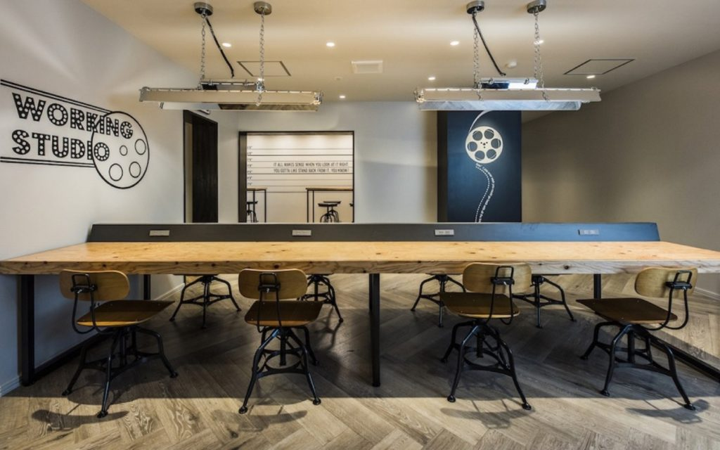 The working space at Films Wako by Social Apartments