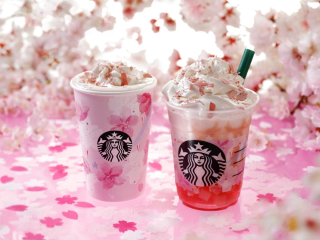 Starbucks has started selling its cherry blossom-themed drinks and products for 2019